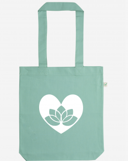 Vegan Tote Bag Lotus in Heart