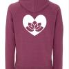 Yoga Hoodie Lotus in Heart 1