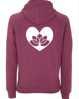 Yoga Hoodie Lotus in Heart